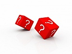 Question Mark Red Dice