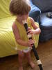 Child Plays Flute